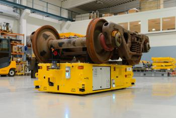 Railway bogie transportation AGV Solving Mover2