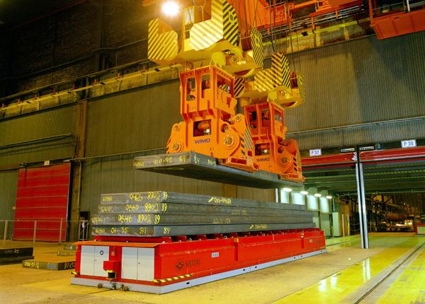 160t automated steel slab handling