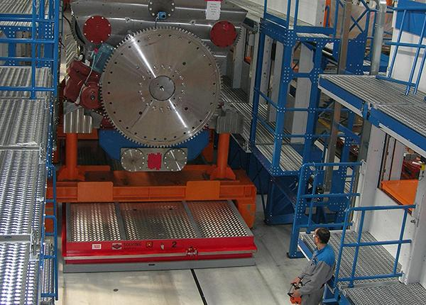 300t handling system for diesel engines
