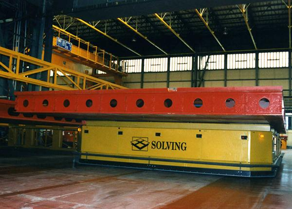 40t AGVs for moving heavy ship section