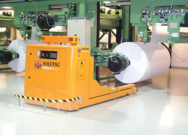 4t paper reel and core handling