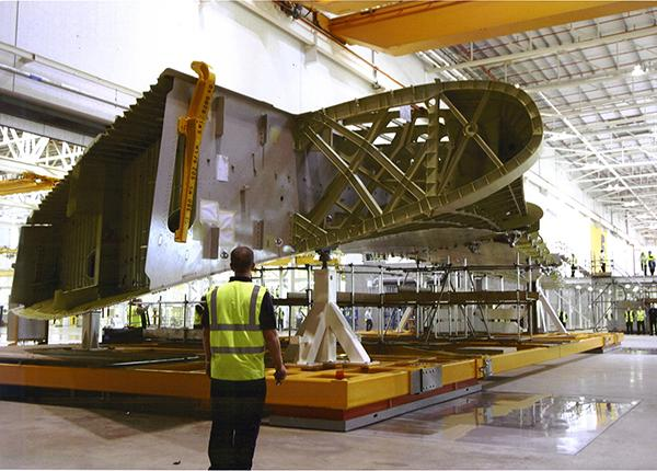 80t handling of airbus wings